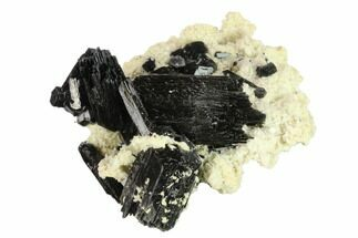 "Buy 3.2"" Black Tourmaline (Schorl) Crystals with Orthoclase - Namibia - #132232"