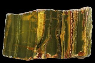 "Buy 7.9"" Marra Mamba Tiger's Eye Slab - Mt. Brockman (2.7 Billion Years) - #133081"