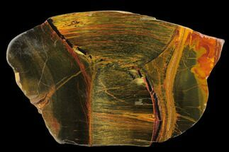 "Buy 4.5"" Marra Mamba Tiger's Eye Slab - Mt. Brockman (2.7 Billion Years) - #133066"