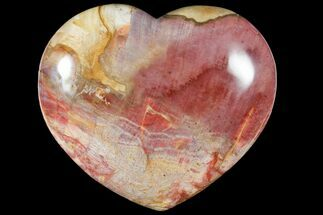 "Buy 6.6"" Polished, Triassic Petrified Wood Heart - Madagascar - #133621"