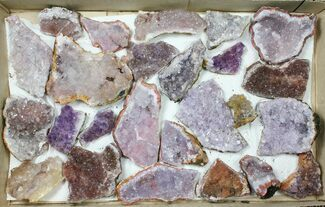 Wholesale Flat - Morocco Amethyst Clusters - 25 Pieces For Sale, #133691