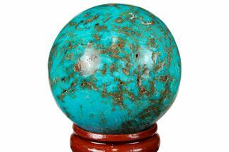 "Buy 1.65"" Polished Chrysocolla Sphere - Peru - #133738"