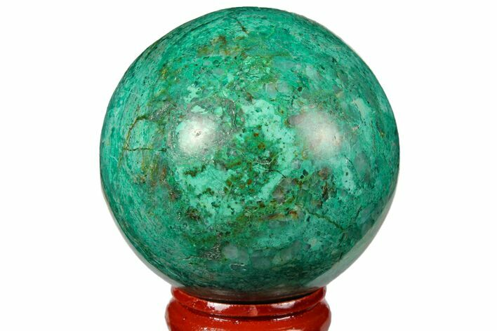 "2"" Polished Chrysocolla Sphere - Peru"