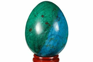 "2.35"" Polished Chrysocolla & Malachite Egg - Peru For Sale, #133787"