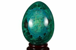 "Buy 3.1"" Polished Chrysocolla & Malachite Egg - Peru - #133813"