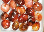 Wholesale Lot: Polished Carnelian Pebbles - 5kg (~11 lbs) - #133923-2