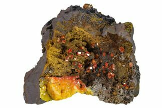 Vanadinite & Goethite - Fossils For Sale - #133881