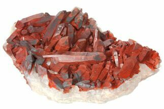 "3.9"" Natural Red Quartz Crystal Cluster - Morocco For Sale, #134081"