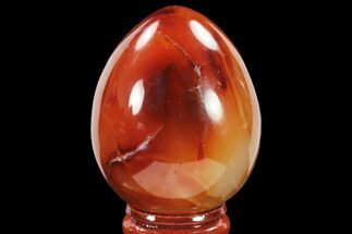 "2.2"" Colorful, Polished Carnelian Agate Egg - Madagascar For Sale, #134549"