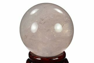"Buy 2"" Polished Rose Quartz Sphere - Madagascar - #133810"
