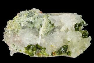 Epidote & Quartz - Fossils For Sale - #135870
