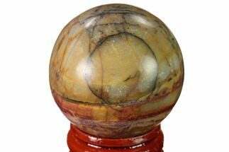 "Buy 1.55"" Polished Cherry Creek Jasper Sphere - China - #136135"