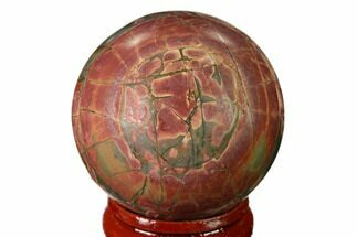 "1.55"" Polished Cherry Creek Jasper Sphere - China For Sale, #136145"