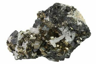 "Buy 3"" Galena, Pyrite and Quartz Association - Peru - #136210"