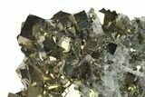 "4.4"" Cubic Pyrite & Quartz Crystal Association - Peru - #136196-1"