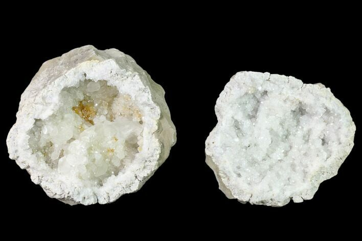 "3.3"" Quartz and Calcite Keokuk Geode Pair - Illinois"