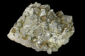 Quartz & Chalcopyrite - Fossils For Sale - #137133