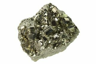"2.6"" Gleaming Pyrite Crystal Cluster - Peru For Sale, #138131"