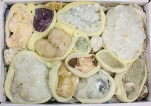 Buy Mixed Indian Mineral & Crystal Flat - 16 Pieces - #138526