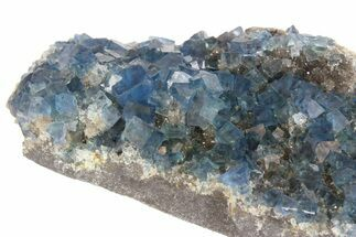 "4.5"" Cubic, Blue-Green Fluorite Crystals on Quartz - China For Sale, #138707"