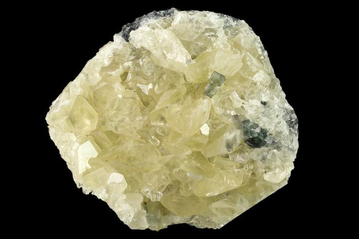 "3.5"" Calcite Crystal Cluster with Green Fluorite - China"