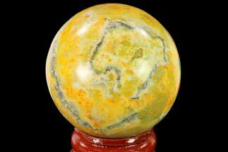 "Buy 1.8"" Polished Bumblebee Jasper Sphere - Indonesia - #140008"