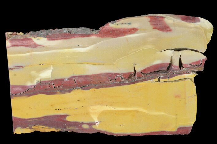 "4.7"" Mookaite Jasper Slab (Not Polished) - Australia"
