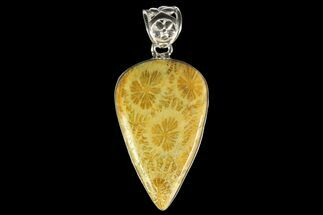 Buy 20 Million Year Old Fossil Coral Pendant - Sterling Silver - #142288