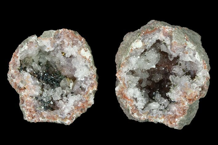 "1.3"" Keokuk ""Red Rind"" Geode with Iridescent Chalcopyrite - Iowa"