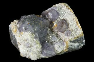 "2"" Purple Fluorite Crystals on Quartz - Fluorescent! For Sale, #142385"