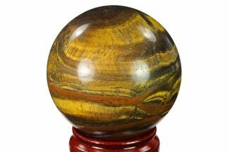 "3"" Polished Tiger's Eye Sphere - Africa For Sale, #143267"