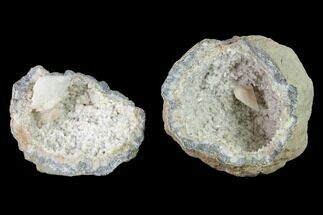 "Buy 5.9"" Scalenohedral Calcite Lined Keokuk Geode - Illinois - #144757"