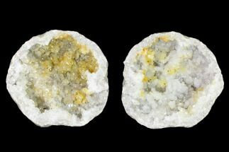 "Buy 3.5"" Keokuk Quartz Geode with Filiform Pyrite - Iowa - #144721"