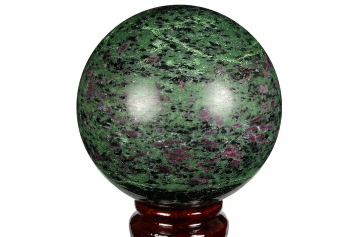 "3.15"" Polished Ruby Zoisite Sphere - Tanzania"