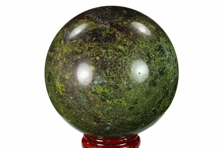 "2.5"" Polished Dragon's Blood Jasper Sphere - South Africa"