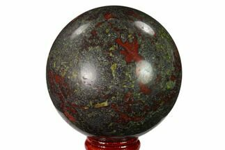 "Buy 2.7"" Polished Dragon's Blood Jasper Sphere - South Africa - #146086"
