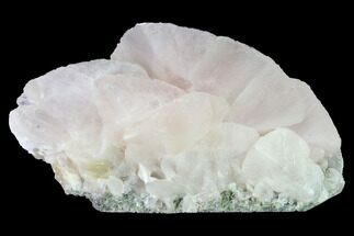 "5.4"" Bladed Manganoan Calcite Crystal Cluster - Fluorescent! For Sale, #146954"