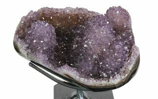 "6.1"" Amethyst ""Stalactite"" Formation on Metal Stand - Uruguay For Sale, #139829"
