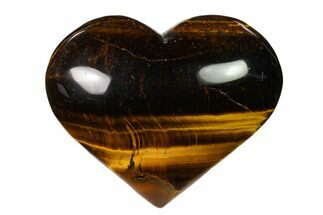 "2.8"" Polished Tiger's Eye Heart For Sale, #148778"