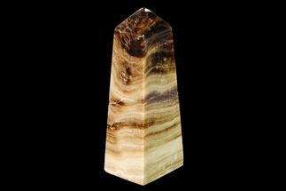 "3.9"" Polished Chocolate Calcite Tower - Pakistan For Sale, #149489"