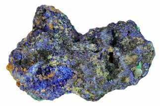 "3"" Sparkling Azurite Crystals with Malachite - Laos For Sale, #149318"