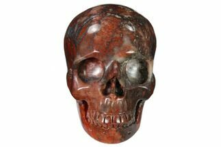 "3"" Realistic, Polished Red Picture Jasper Skull  For Sale, #150956"