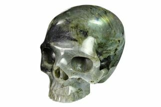 "Buy 3"" Realistic, Polished Labradorite Skull - Madagascar - #151054"