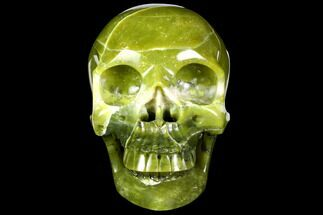 "6.9"" Realistic, Polished Jade (Nephrite) Skull For Sale, #151220"