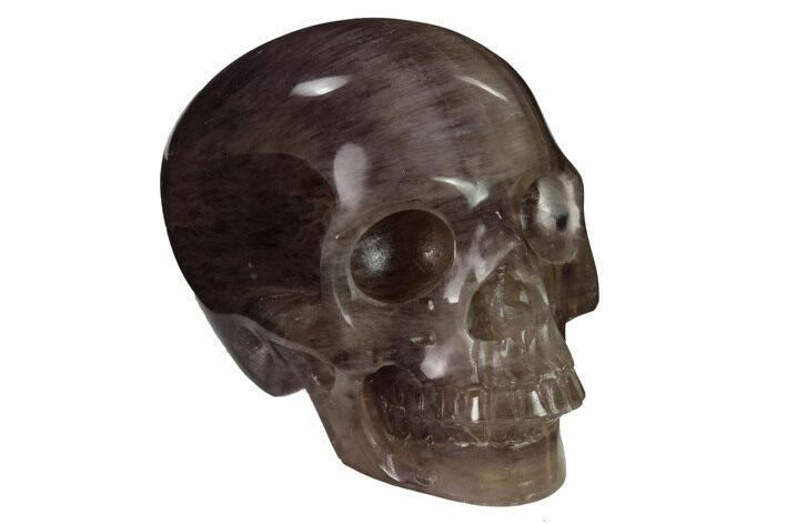 "3"" Realistic, Carved, Banded Purple Fluorite Skull"