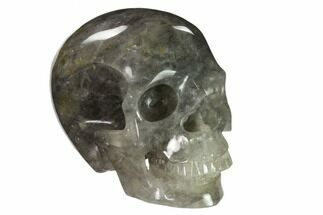 "Buy 5"" Realistic, Carved Smoky Quartz Crystal Skull - #151174"