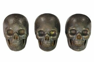 "1.5"" Polished Pyrite Skulls For Sale, #151367"