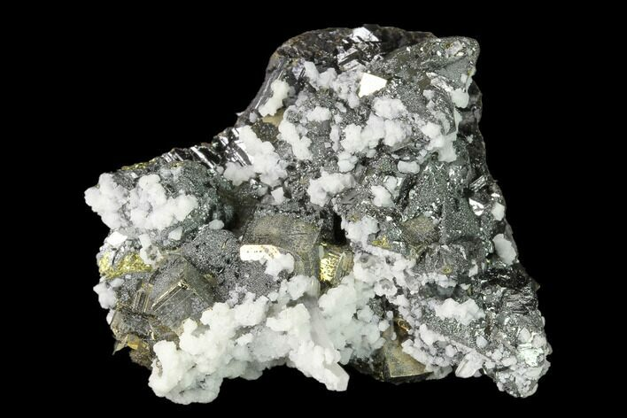 "1.9"" Pyrite, Sphalerite, Calcite and Quartz Association - Peru"