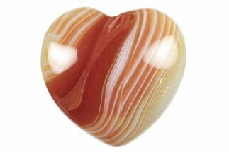 "Buy 1.6"" Polished Carnelian Agate Hearts - #155371"