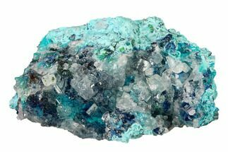 Shattuckite, Chrysocolla & Quartz - Fossils For Sale - #155835